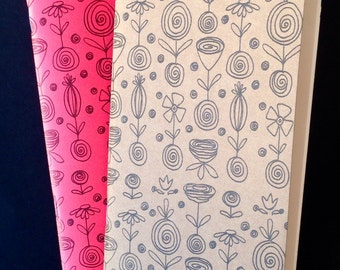 Flower Blossoms Insert Cover - Choose Color and Size