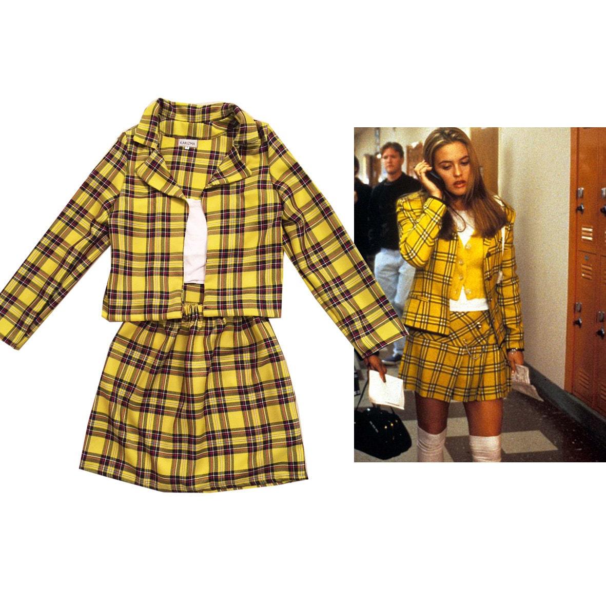 SALE Cheru0026#39;s Clueless Outfit Yellow Tartan Plaid Fancy