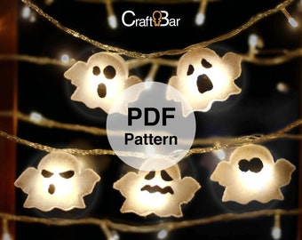 Halloween Ghost - Felt Lamp Decoration - PDF Pattern