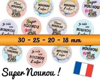 48 digital images SUPER nanny for cabochons