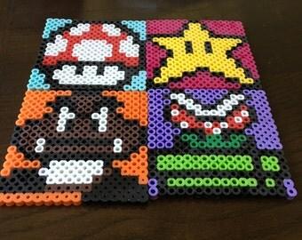 Set of 4 Mario coasters