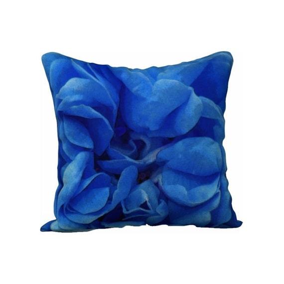 Blue Pillow Case Printed Pillow Cover Sham Throw Pillow