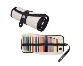 Pencil Storage Case Canvas Roll up Holds 36 Pencils