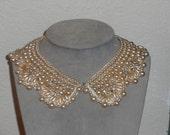 Vintage 1940s Beaded collar, Baare & Beards Beaded collar, sweater collar, bib