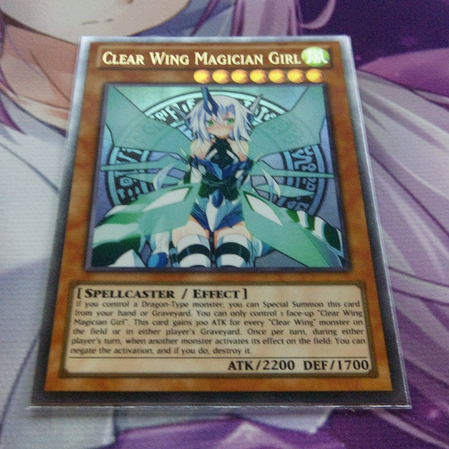 Clear Wing Magician Girl Ultra Rare Orica Proxy Fanmade