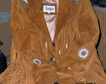 Cowboy Hippie Leather Coat mens xl