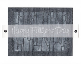Father's Day Stone handcrafted greeting card