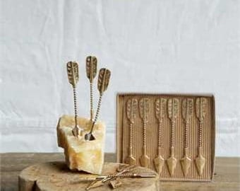 Cheese Markers | Gold | Cheese Kit | Cheese Plate | Arrow