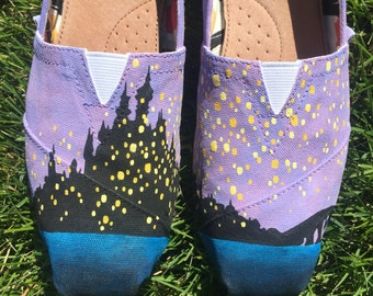 Hand-Painted Tangled Shoes
