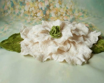 felted flower Jasmine newborn photography prop