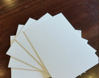 "5"" x 7"" Blank Note Cards. Bright White Cardstock. A7 Note cards. 5 x 7 Card stock. Invitations."