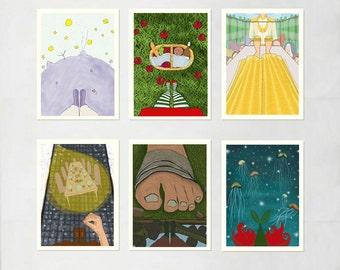 "SALE - Fairy Tales - 5x7"" - Set of 6 Prints."