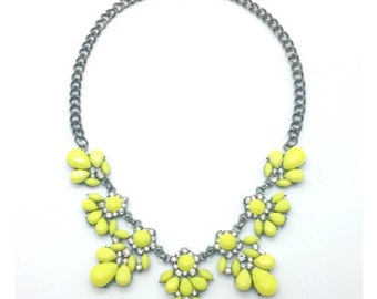 Yellow Flower Statement Necklace