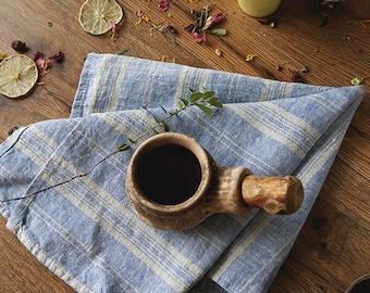 Tea towels,linen towels, striped linen,kitchen towels,blue linen, softened Flax ,Towels Gift idea,リネンティータオル