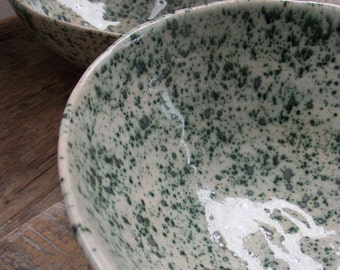 Handmade ceramic bowl Crocodile Green
