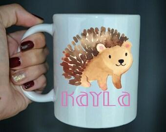 Custom Hedgehog Coffee Mug - Hedgehog Lover - Gift For Christmas - Cute Coffee Mug