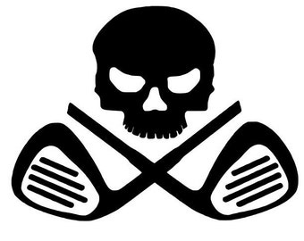 Skull Golf Club Decal