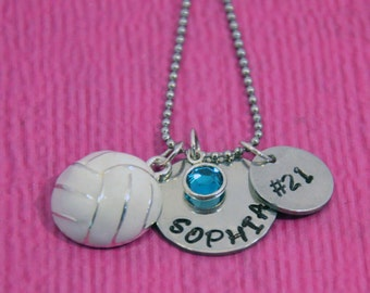 Volleyball Necklace | Volleyball Gifts | Gift for Volleyball Player | Volleyball Gift for Girl | Volleyball Charm | Volleyball Jewelry |