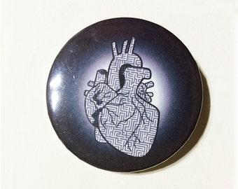 Maze Heart pin