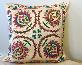 Uzbek Suzani pillow cover # 18
