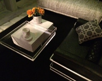 Modern dollhouse coffee table stacked design