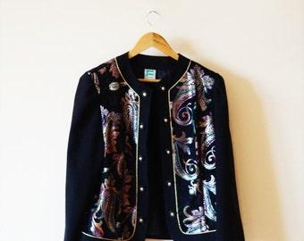 SALE Vintage 80s Ornamental Jacket