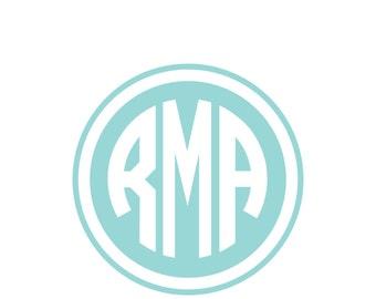 Personalized Vinyl Monogram Decal