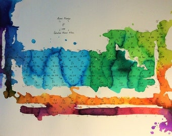 Abstract Watercolour Periodic Table