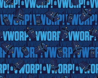 """Bbc Doctor Who Worp Worp 100% cotton 44"""" fabric by the yard,d104"""