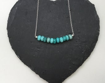 Sterling Silver Turquoise Necklace - can be personalised - December Birthstone, perfect for Bridesmaids