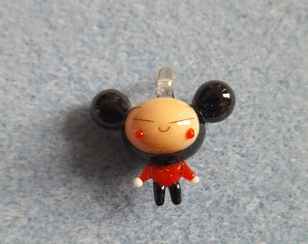 Puca Girl Cartoon Lampwork Glass Pendant cute Pucca 30mm x 30mm