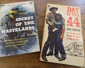 Vintage Paperbacks - Western - Cowboy themed