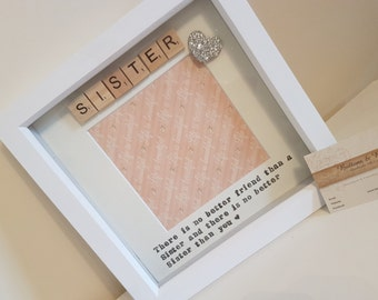 Sister Photo Frame- 'There Is No Better Friend Than A Sister And There Is No Better Sister Than You'- Gift for sister