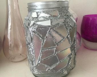 Mosaic style jar