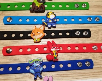 10  Zootopia Silicone Bracelets Party Favors