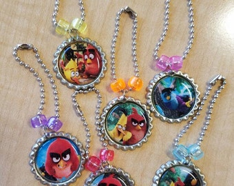 10 Pieces - Angry Birds 2016 Party Favors - Zipper Pulls