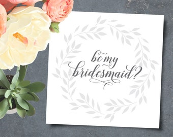 Printable Bridesmaid Invitation, Maid of Honor Invite - INSTANT DOWNLOAD
