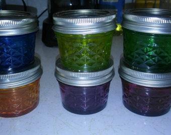 Homemade Colored Mason Jars