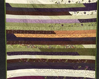 Purple-green Jelly Roll Quilt