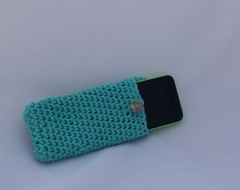 iPhone 5C cover- crochet iPhone pouch