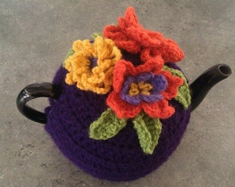 Hand Crocheted flower teapot cozy