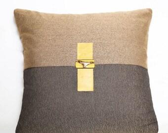 Pillow Yellow Leather Belt & stone