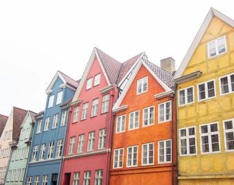 Copenhagen, Denmark, Colorful, Bright, Windows, Facade, Pattern, Europe, Wall Art, Print, Fine Art, Photograph, Architecture