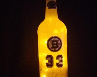 Boston Bruins hockey bottle light