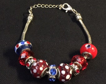 European Bead Adjustable Bracelet