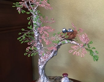 Silver Pond Beaded Sculpture