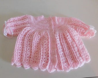 Pink baby sweater size 3-6 months