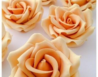 6 Large Sugar roses