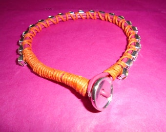 Rhinestone Corded Bracelet