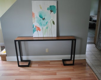 Industrial modern hallway table or entry way table